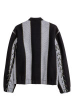 Jacquard-weave jacket - Black/Striped - Men | H&M 2