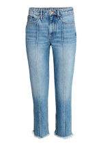 Straight Cropped High Jeans - Denim blue - Ladies | H&M GB 2