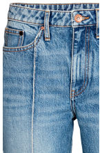 Straight Cropped High Jeans - Denim blue - Ladies | H&M GB 4