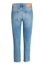 Straight Cropped High Jeans - Denim blue - Ladies | H&M 3