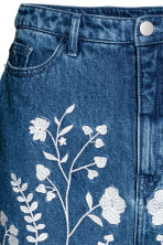 Embroidered denim skirt - Denim blue -  | H&M GB 3
