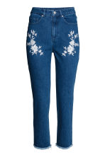 Embroidered jeans - Dark denim blue - Ladies | H&M CN 2