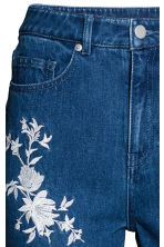 Embroidered jeans - Dark denim blue - Ladies | H&M 4