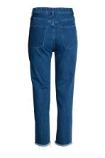 Embroidered jeans - Dark denim blue - Ladies | H&M 3