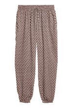 Pull-on trousers - Pink/Patterned - Ladies | H&M CN 2