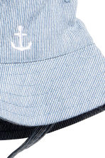 Fisherman's hat - Light blue/White striped -  | H&M 2