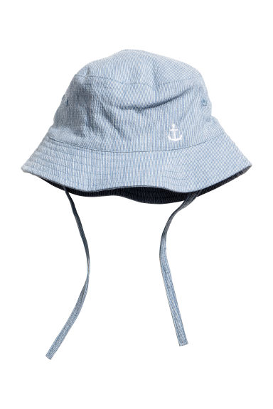 Fisherman's hat - Light blue/White striped -  | H&M 1