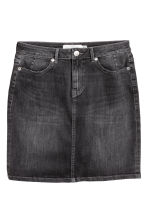 Denim skirt - 牛仔黑 -  | H&M CN 2