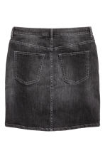 Denim skirt - Black denim - Ladies | H&M CN 3