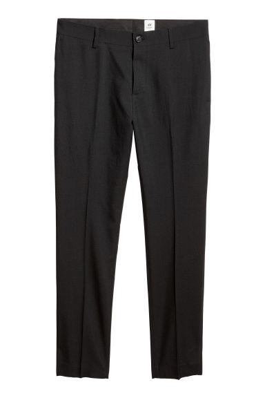 Wool suit trousers - Black - Men | H&M 1