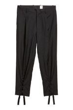 Wool trousers with lacing - Black - Men | H&M 1