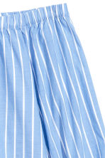 Off-the-shoulder blouse - Light blue/Striped - Ladies | H&M CN 3