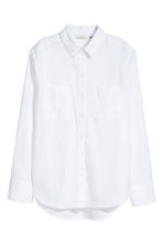 Linen-blend shirt - White - Ladies | H&M 2