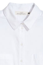 Linen-blend shirt - White - Ladies | H&M 3