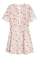 Short dress - Light pink/Floral - Ladies | H&M CN 2