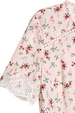 Short dress - Light pink/Floral - Ladies | H&M CN 4