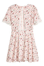Short dress - Light pink/Floral - Ladies | H&M 3