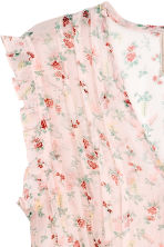 Long chiffon blouse - Light pink/Floral - Ladies | H&M 3