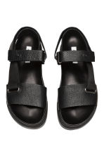 Leather sandals - Black - Men | H&M 2