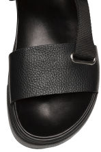 Leather sandals - Black - Men | H&M 3