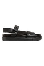 Leather sandals - Black - Men | H&M 1