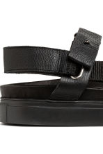 Leather sandals - Black - Men | H&M 4