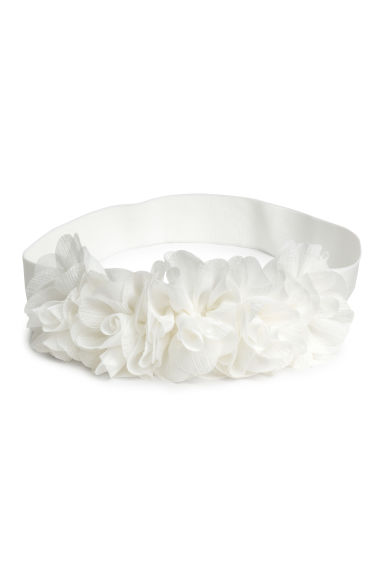 Elastic hairband - White - Kids | H&M CN