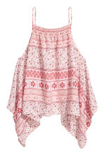 Top drappeggiato - Rosa/fantasia - DONNA | H&M IT 2