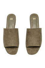 Peep-toe mules - Khaki green - Ladies | H&M 3