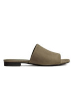 Peep-toe mules - Khaki green - Ladies | H&M 2
