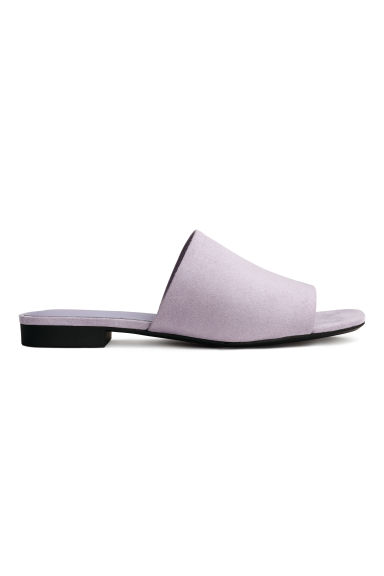 Peep-toe mules - Lilac - Ladies | H&M 1