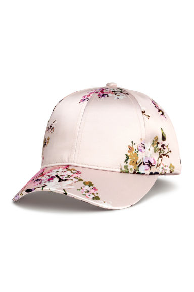 Satin cap - Powder/Floral - Ladies | H&M 1