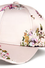 Satin cap - Powder/Floral - Ladies | H&M 2