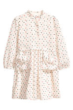 Cotton dress - Natural white/Heart - Kids | H&M 1