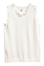 Fine-knit top - Natural white - Kids | H&M CN 1