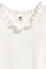 Fine-knit top - Natural white - Kids | H&M CN 2