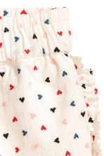 Cotton shorts - Natural white/Heart - Kids | H&M 2