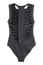 Ripped jersey body - Black - Ladies | H&M 3