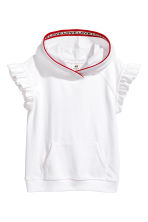 Butterfly-sleeved hooded top - White - Kids | H&M 1