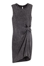 Sleeveless jersey dress - Black washed out - Ladies | H&M CN 2