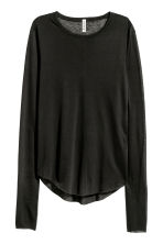 Top in a lyocell blend - Black - Ladies | H&M 2