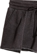 Short sweatshirt shorts - Black - Ladies | H&M CN 3