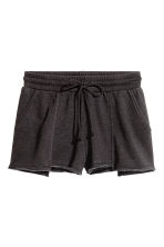 Short sweatshirt shorts - Black - Ladies | H&M CN 2