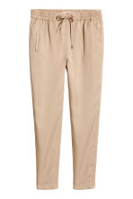 Pantaloni pull-on in lyocell - Beige - DONNA | H&M IT 2