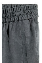 Lyocell pull-on trousers - Dark grey -  | H&M 3