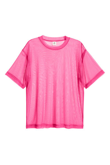 Wide mesh T-shirt - Cerise - Men | H&M