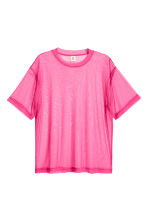 Wide mesh T-shirt - Cerise - Men | H&M 1