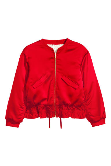 Reversible bomber jacket - Dark red - Kids | H&M 1