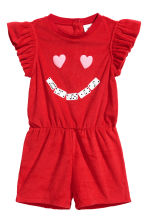 Terry playsuit - Red - Kids | H&M 1