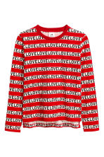 Long-sleeved T-shirt - Red/Text - Kids | H&M 1